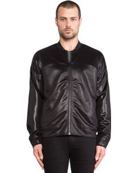 T By Alexander Wang Knit Bomber Jacket - Lyst