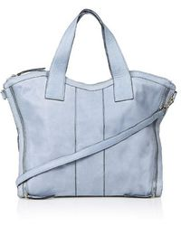 Topshop Blue Leather Holdall - Lyst