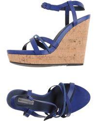 Vic Sandals blue - Lyst