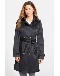 London Fog Heritage Satin Double-Breasted Trench Coat - Lyst