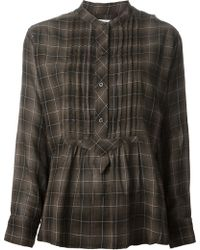 Isabel Marant Checked Shirt - Lyst