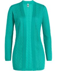 M Missoni Cotton Blend Knit Cardigan - Lyst