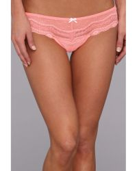 Betsey Johnson Eyelet Lace Lorise Wide Side Thong - Lyst