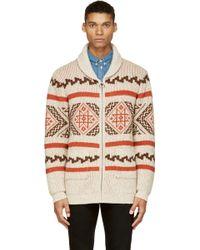 Levi's Beige Wool Cowichan Cardigan - Lyst