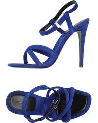 Celine Blue Sandals - Lyst