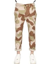 Griffin - Camo Printed Cotton Blend Ripstop Trousers - Lyst