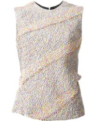 Jil Sander Bias Cut Tweed Style Top - Lyst