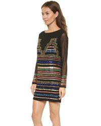Mara Hoffman Mini Sequin Dress  Black - Lyst