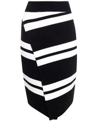 A.L.C. Clift Striped Knit Skirt - Lyst