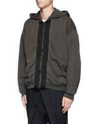 Haider Ackermann Raw Edge Zip Up Hoodie - Lyst