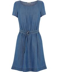 Oasis The Dita Dress blue - Lyst