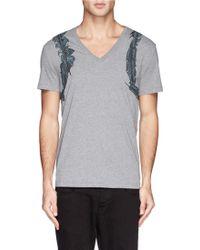 Alexander McQueen Feather Harness Print T-Shirt - Lyst