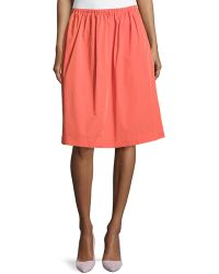 Halston Heritage A-Line Full Skirt - Lyst