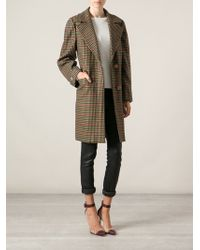 Céline Vintage Multicolor Tweed Coat - Lyst