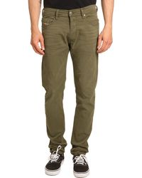 Diesel Tepphar Khaki Skinny Jeans - Lyst