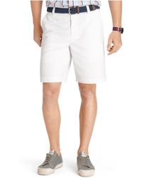 Izod Saltwater Flat-front Shorts - Lyst