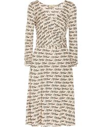 Issa Wrap Effect Printed Jersey Dress - Lyst