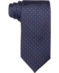 Hugo Boss Boss By Navy and Orange Dot Slim Tie - Lyst