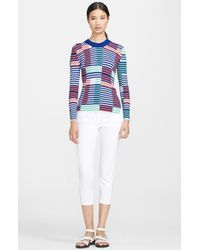 Kenzo Stripe Ribbed Knit Sweater - Lyst