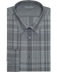Calvin Klein Extreme Slim Fit Plaid Dress Shirt - Lyst
