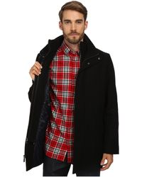 Calvin Klein Black Coat - Lyst