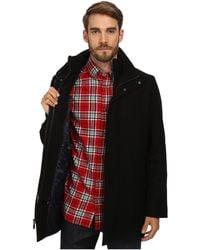 Calvin Klein Wool Blend Bibbed Walking Coat Cm485679 black - Lyst