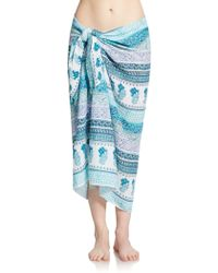 Calypso St. Barth - Printed Cotton Sarong - Lyst