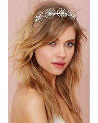 Nasty Gal Illiana Pearl Headband white - Lyst