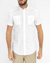 DIESEL | White S-haul Shoulder Tab Short-sleeve Shirt | Lyst