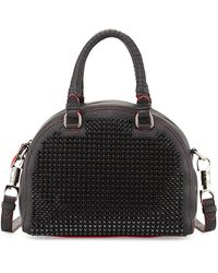 Christian Louboutin Panettone Small Spiked Satchel Bag Black - Lyst