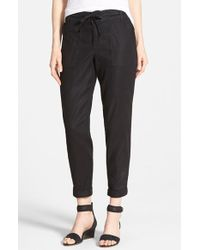 CJ by Cookie Johnson - Relaxed Linen Blend Cargo Pants - Lyst