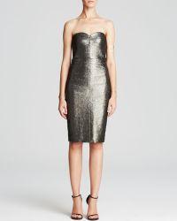 Trina Turk Dress - Volare Metallic Strapless - Lyst