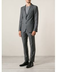 Giorgio Armani Gray Patterned Suit - Lyst
