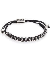 King Baby Studio   Sterling Silver & Cord Slide Bracelet   Lyst