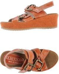 Jeckerson Orange Sandals - Lyst