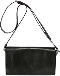 Ann Demeulemeester Brushed Leather Medium Shoulder Bag - Lyst
