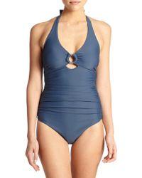 Heidi Klein Pilat D-G Bikini Top blue - Lyst