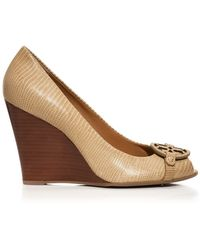 Tory Burch Mini Miller Open-Toe Wedge - Lyst
