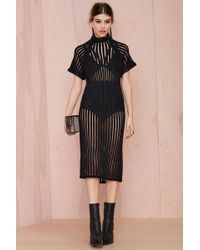 Nasty Gal Wait And See Knit Dress - Lyst