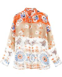 Paul & Joe Silk Printed Shirt - Lyst