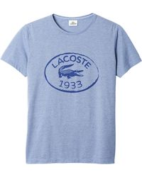 Lacoste Jersey Chine Burnout Graphic Tshirt - Lyst