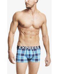 Express Box Check Knit Sport Trunks - Lyst