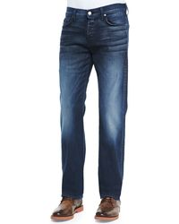 7 For All Mankind Luxe Performance Standard Ocean Vista Jeans - Lyst