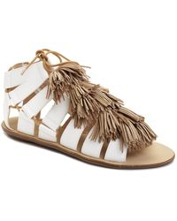 Loeffler Randall Sierra Sandal beige - Lyst