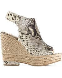 Paloma Barceló Snakeskin-Effect Leather Wedges - Lyst