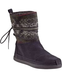 TOMS Nepal Ankle Boot Grey Suede - Lyst