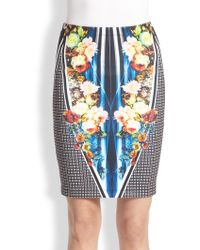 Clover Canyon Winter Solstice Printed Pencil Skirt - Lyst