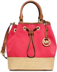MICHAEL Michael Kors Marina Large Espadrille Shoulder Bag red - Lyst