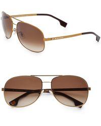 BOSS Orange - 62mm Aviator Sunglasses - Lyst