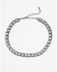 Asos Chain Choker Necklace - Lyst
